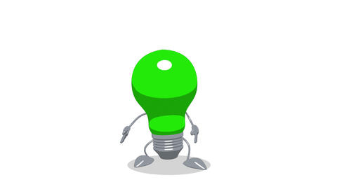 lightbulb toon jump Animation