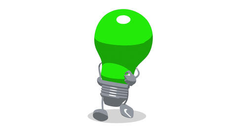 lightbulb toon walk1 Animation
