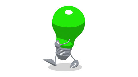 lightbulb toon walk2 Animation