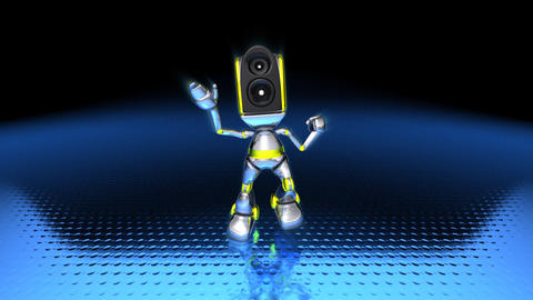 Robotdance1 stock footage