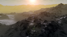 (1101) Snow Mountains Wilderness Glaciers Sunset H Animation