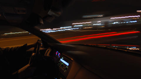 Inside Car Timelapse stock footage