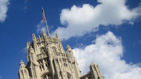 Tribune Tower stock footage