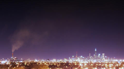 Wide City stock footage