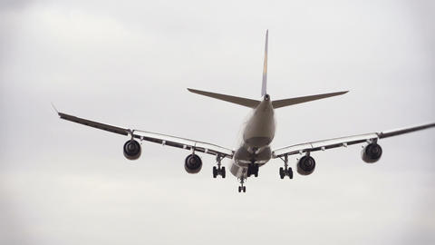 Airplane From Behind Landing stock footage