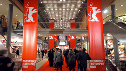 Berlinale Tickets Queue stock footage