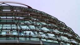 Detail of the Reichstag building in Berlin Footage