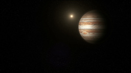 The Planet Jupiter In Space stock footage