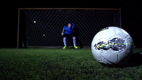 Soccer Goalkeeper stock footage