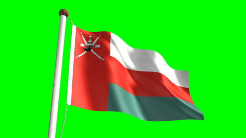 Oman Flag stock footage