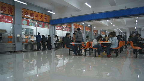 Chinese Student Canteen stock footage