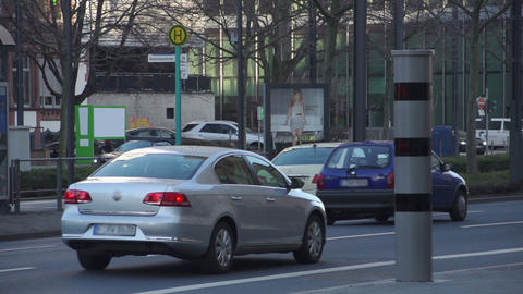 Speedlight Flashes Of Speeding Cars In The City - Slow Motion stock footage