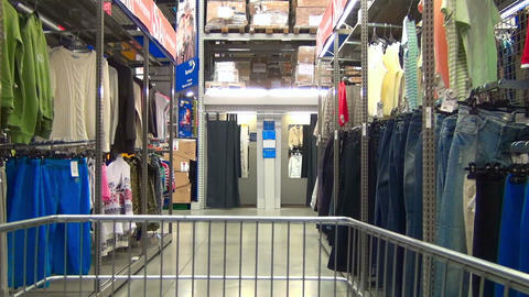 Clothing Store stock footage