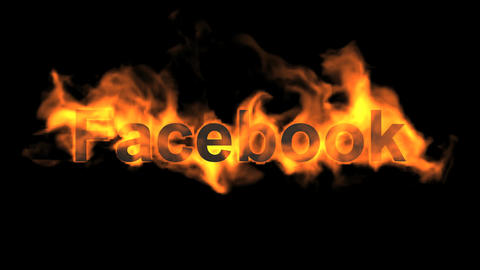 Flame Facebook Word,fire Social Networking Sites Text stock footage