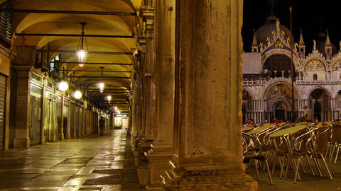 Some Attractions Of Venice City In Italy, San Marco View stock footage