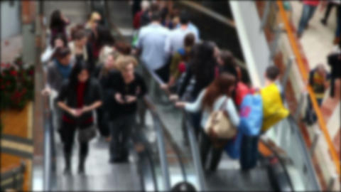 Escalator With People In The Mall (no Focus) stock footage