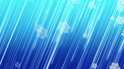 Christmas Snowflakes Falling On Blue Background stock footage