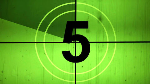 Old Film Countdown Leader With Sound stock footage