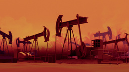 Pumping Oil Wells stock footage
