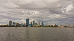 Perth City Time Lapse In Cloudy Skies stock footage