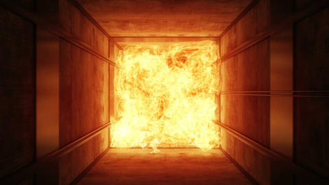 Fire In A Ventilating Shaft stock footage