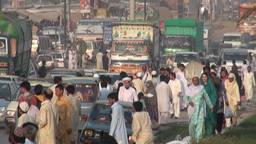 Traffic, People, Busy, Chaos, Pakistan, Colorful stock footage
