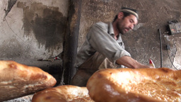 Uyghur, Bread, Fresh, Bakery, China stock footage