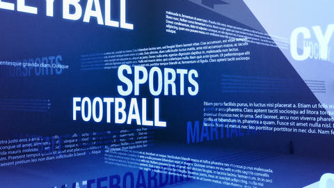 Sports Background Seamless Loop stock footage
