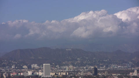 HD Hollywood Sign in Distant 30sec Footage