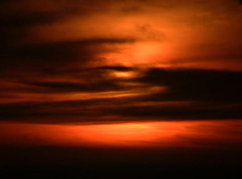 Blood Red Sunset stock footage
