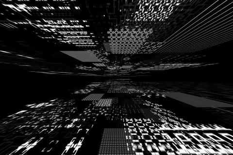 Greyscale Matrix stock footage