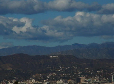 HollywoodSign 01 30sec stock footage