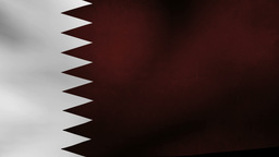 Qatar flag Animation
