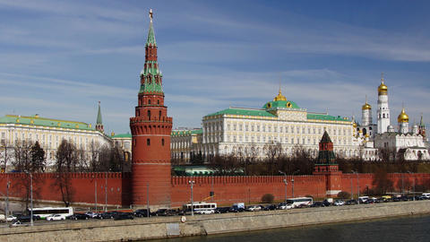 Moscow Kremlin Palace stock footage