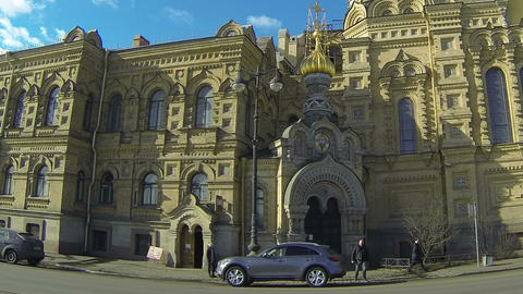 Christian Church In Petersburg stock footage