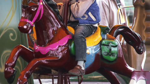 Fairground Carousel stock footage