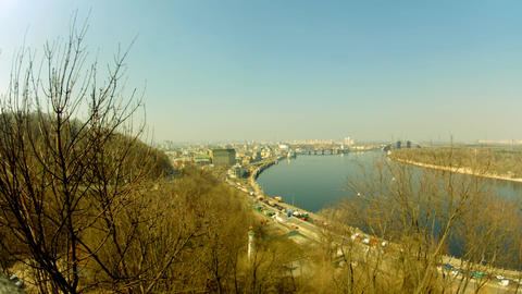 Dnipro river in Kyiv Footage