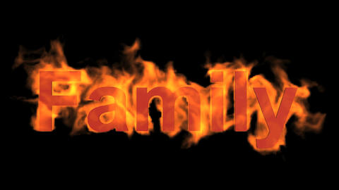Fire Family Word,fire Text stock footage