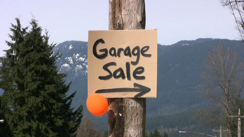Garage Sale Sign stock footage