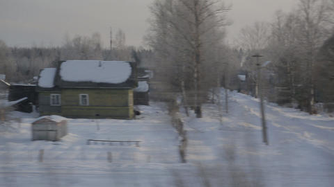 Train Winter Background Sound stock footage