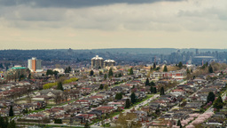 Cloudy Day Over Residential Area In Burnaby, BC stock footage