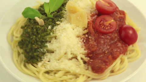 Tasty Colors :) Of The Italian Flag stock footage