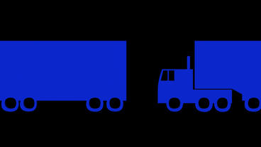 Rotation Of 3D Truck.automobile,shipping,transportation,freight,cargo,vehicle,hi stock footage