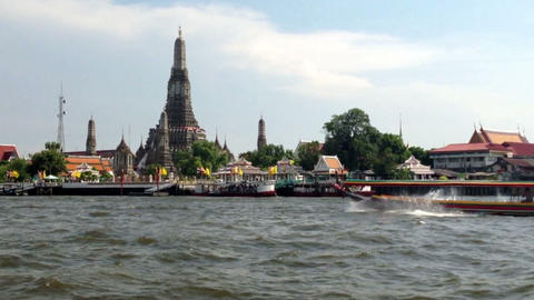 WAT ARUN Temple (Temple of Dawn) is one of Bangkok Tourism landmark Footage