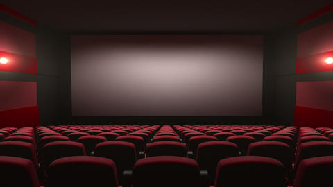 Movie Theatre With A Green Screen stock footage