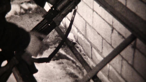 Soldiers close-up - Vintage Super8 Film Footage