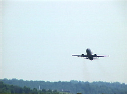 Commercial Aircraft Taking Off From The Runway stock footage