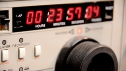 "Timecode Readout 3/4"" U-matic Deck stock footage"