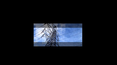 Collection of clean energy images in a motion montage ビデオ