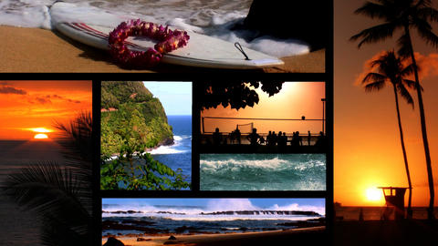 Collection Of Images From Hawaii stock footage